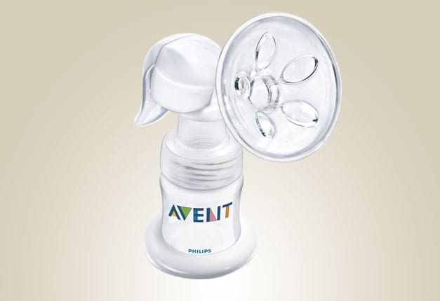 how to use the avent manual breast pump