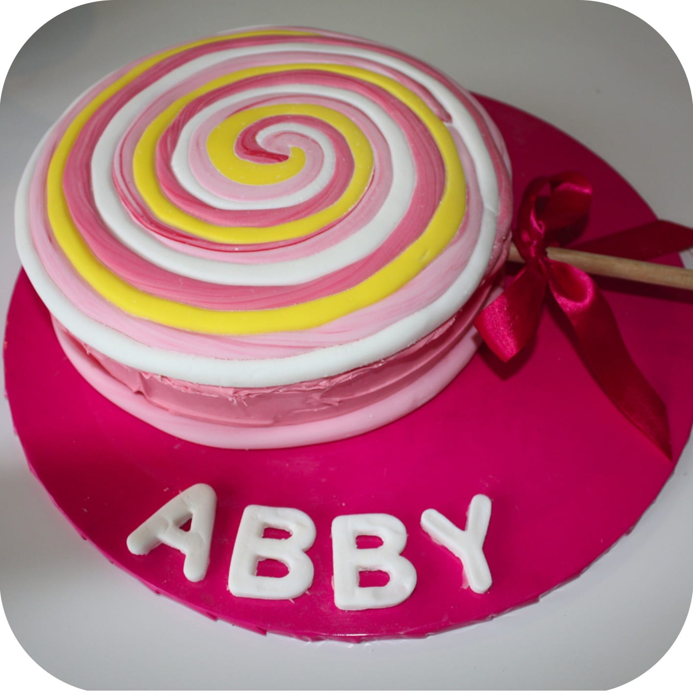 Quick Birthday Cake Designs : Quick & easy Lollipop birthday cake. - Mouths of Mums