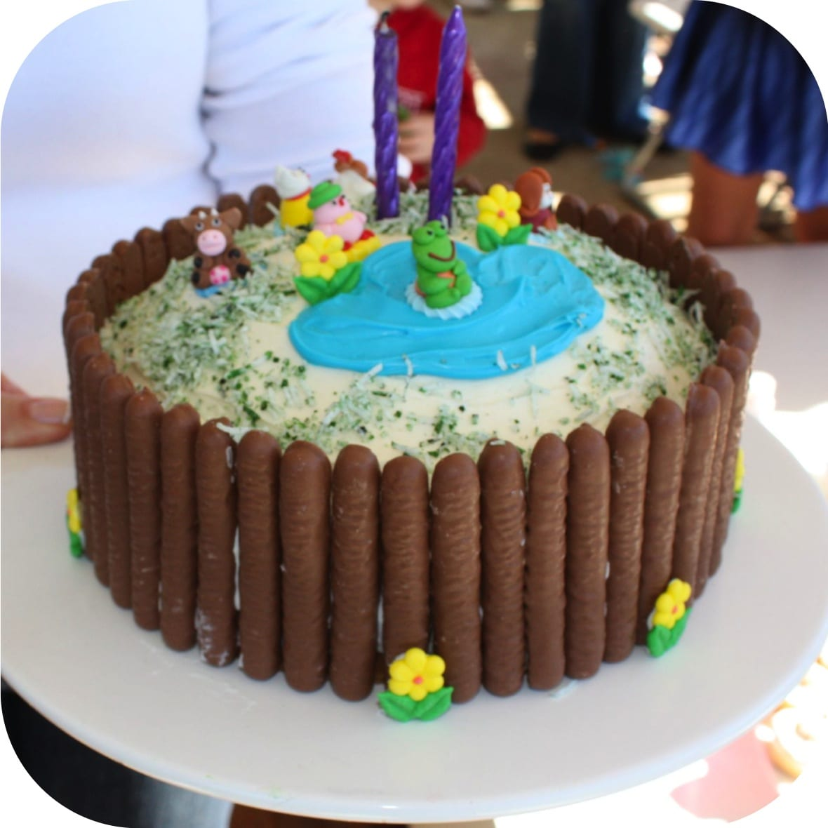Simple Birthday Cake Designs For Baby Boy : Quick and simple kids birthday cake - ee i ee i oh ...