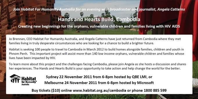 Habitat For Humanity Cambodia Event Invitation