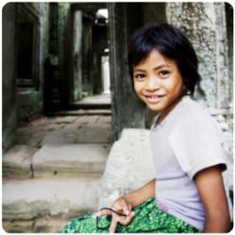 Cambodian Child At Temple