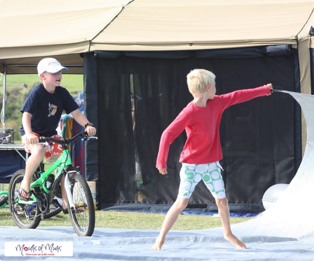Tarp Surfing - free school holiday activities