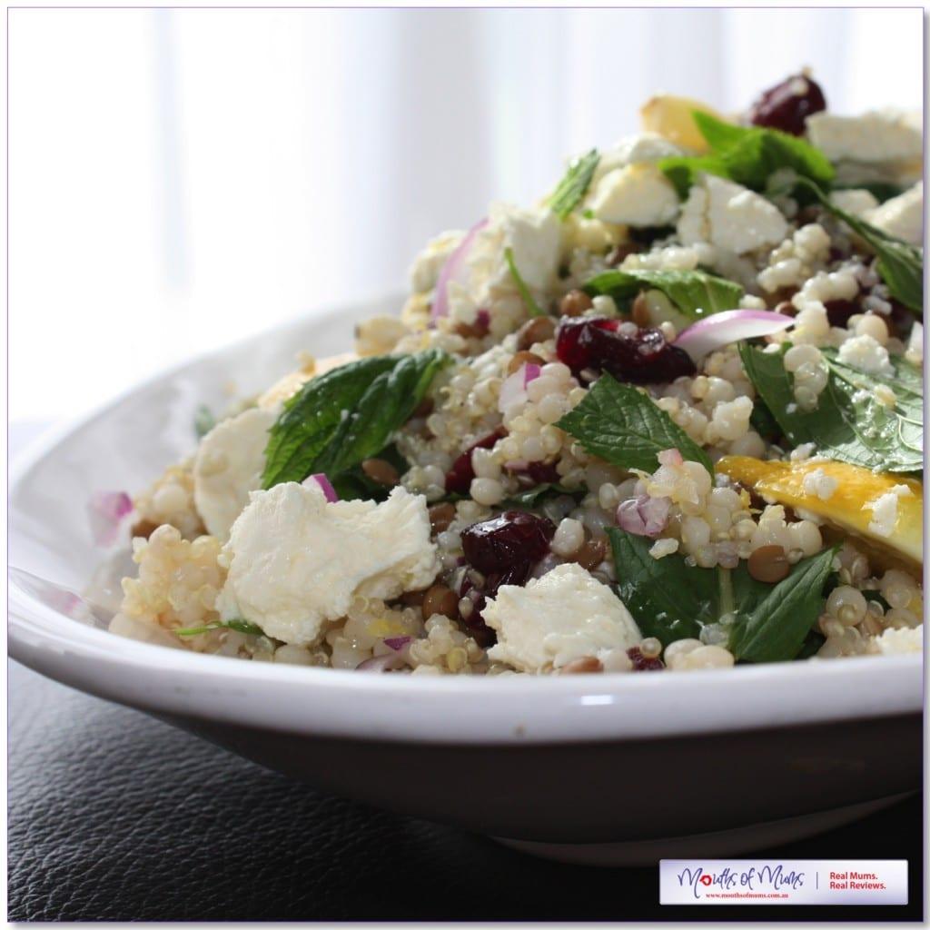 Quinoa & Pearl Cous Cous Mediterranean Salad