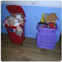 Storage solutions for toys; it's time to put the toys away!
