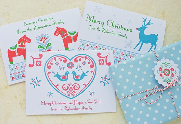 Win 1 of 10 sets of 24 personalised Christmas Cards valued at $58.80