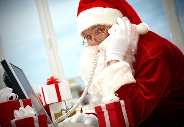 Making the call to Santa Claus