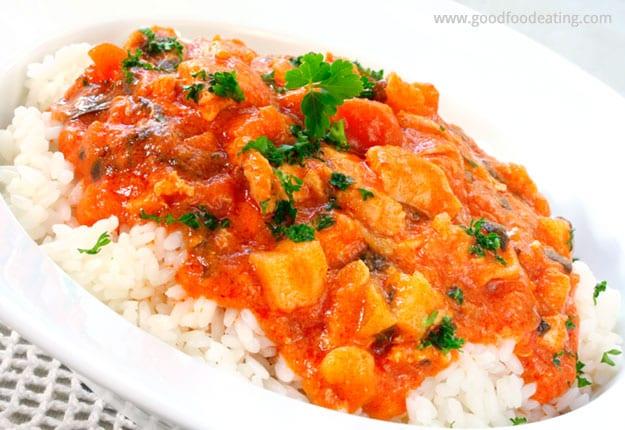 Mild Sweet Pumpkin Curry Chicken recipe