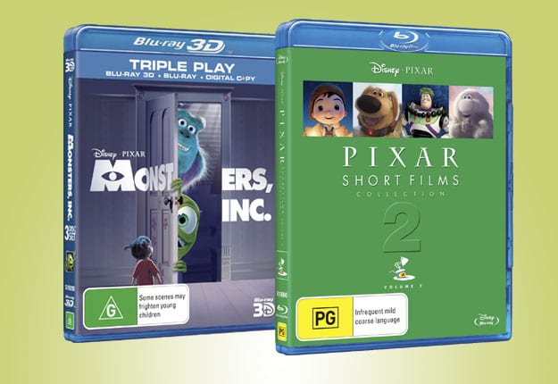 Win a copy of Pixar Short Films Collection PLUS a copy of Monsters Inc