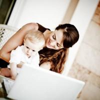 Juggling motherhood while studying online