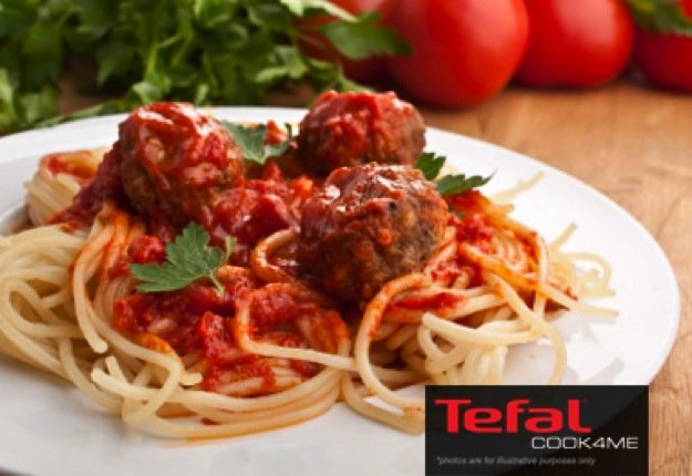 Meatballs with Tomato Pasta Sauce Recipe for Tefal COOK4ME.