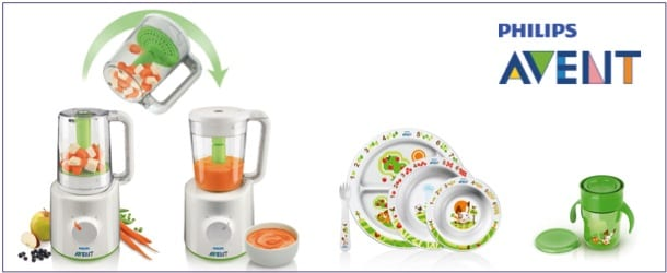 Prize pack include Steamer/Blender, Toddler Feeding Set & Toddler Cup from Philips AVENT