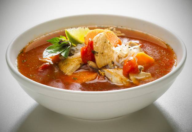 Spicy asian chicken soup recipe