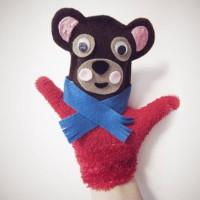 How to make a bear glove puppet...