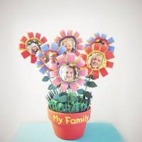 How to make a flower pot family tree