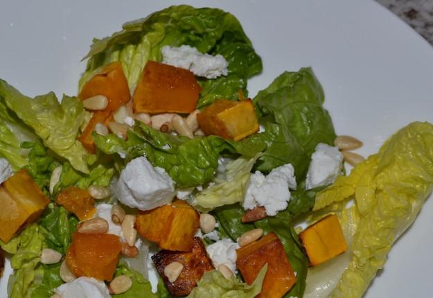 Pumpkin, Pine nut and Goats Cheese Salad