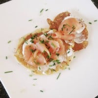 Corn Fritters with Smoked Salmon & Cream Cheese