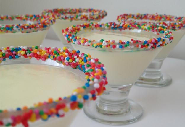 Colourful Vanilla Puddings