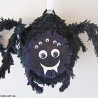 DIY Black spider piñata tutorial
