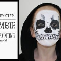 Zombie face painting tutorial