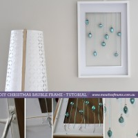 How to make a Christmas bauble frame