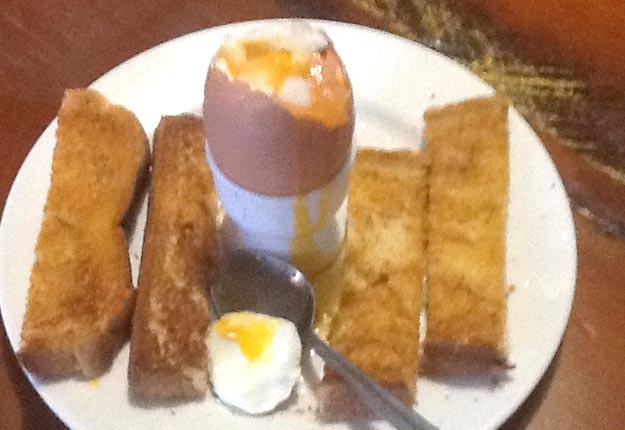Boiled egg with soldiers