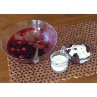 Jelly, berries & cream