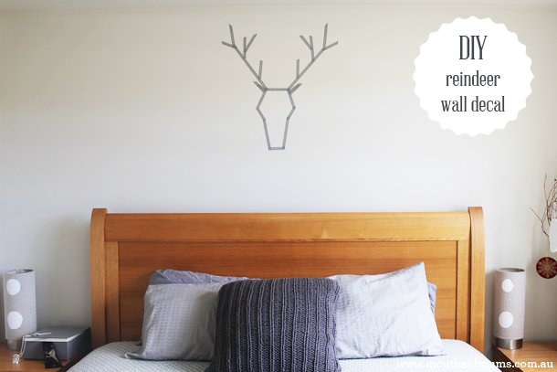 how to make a washi tape reindeer wall decal mouths of mums. Black Bedroom Furniture Sets. Home Design Ideas