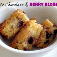 White Chocolate & Berry Blondies