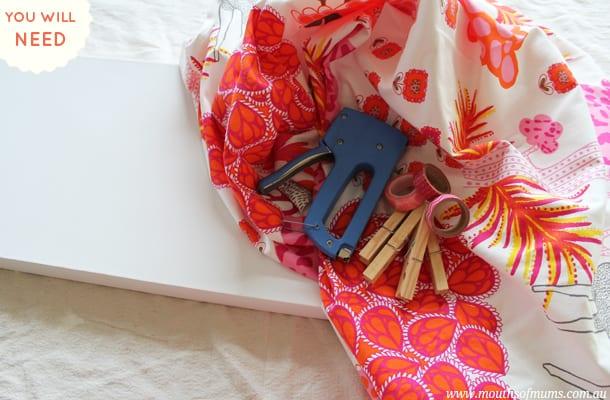 diy storage tutorial for a kids art washing line