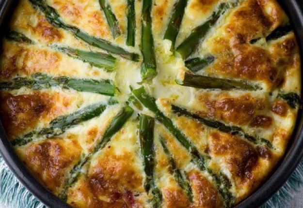 Ham asparagus frittata bake