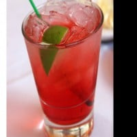 Lime and Cranberry Twist