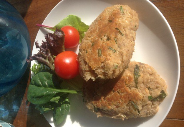 Salmon and Cannellini Bean Patties