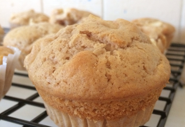 apple and cinnamon muffin