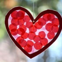 Valentines Day Stained Glass Hearts