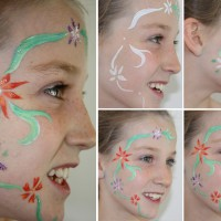 How to facepaint cute flowers