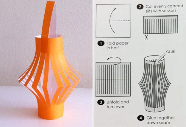 How to make a paper lantern arts crafts and diy for How do you make paper mache glue at home