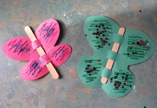 Glitter butterflies arts crafts and diy for Arts and crafts glitter