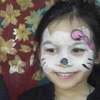 Cute cat face paint
