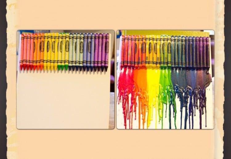 Melting crayon canvas