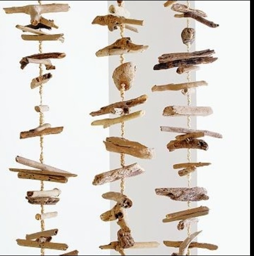 hanging driftwood mobile arts crafts and diy