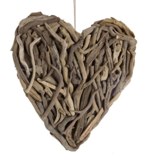 Drift wood heart