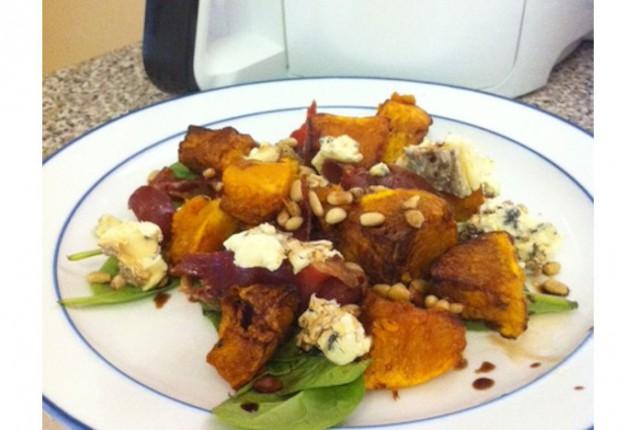 Roast Pumpkin and Blue Cheese Salad