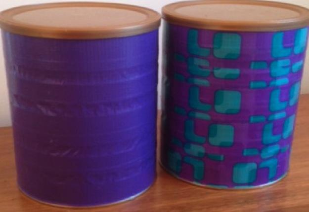 Decorated craft tin