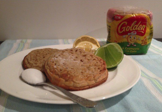 Lemon, Lime and Sugar on Golden® Crumpets with Oats