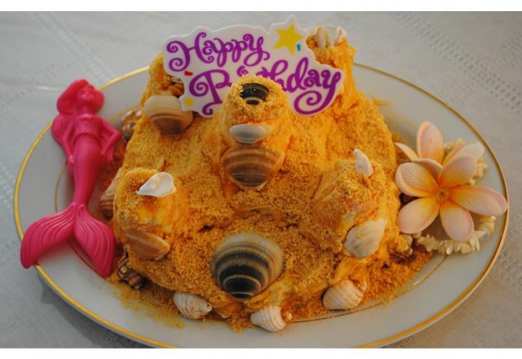 """Children's Sand Castle Cake. """"Never Fail Sponge"""""""