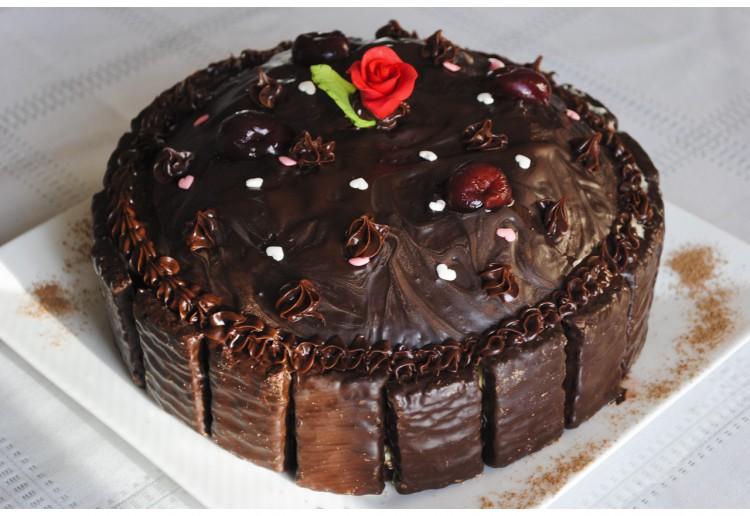 Rich Black Forest Cake.