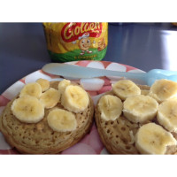 Peanut butter and banana crumpets
