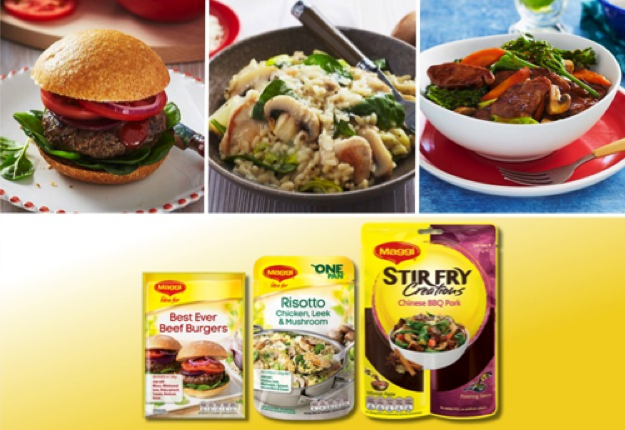 Maggi Fresh Ideas | Burgers, Risotto and Stir Fry