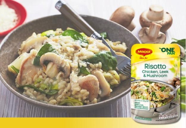 Maggi Chicken Leek and Mushroom Risotto Video