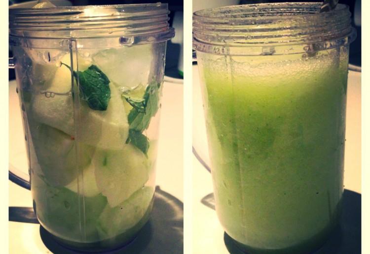 Refreshing morning green smoothie!
